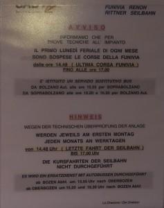 Monatliche technische überprüfung an der Rittner Seilbahn in Bozen