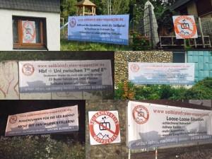 Auswahl an Bannern von Seilbahnfreies Wuppertal