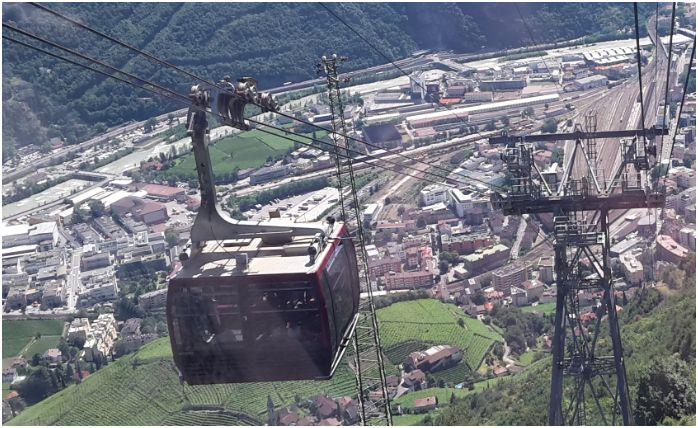 Seilbahnkabine: Rittner Seilbahn in Bozen, Südtirol