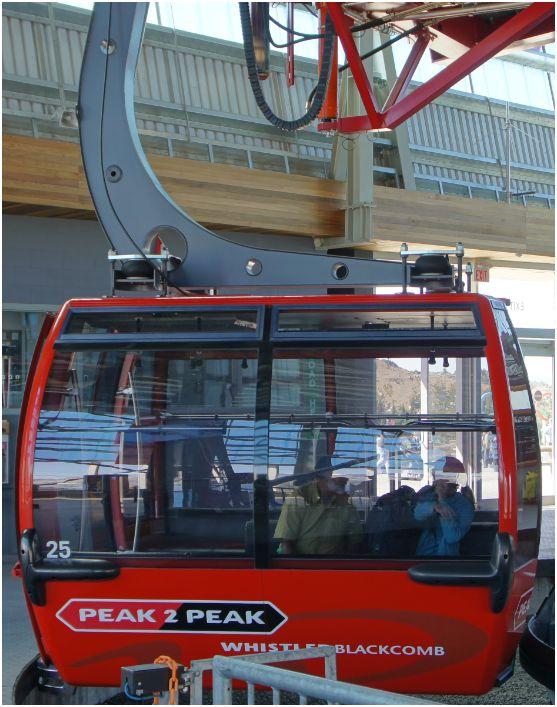Seilbahnkabine: Peak 2 Peak Gondola, Whistler, Canada