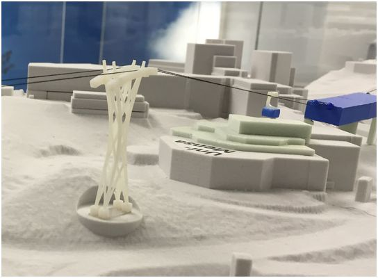 Eigene Aufnahme: Modell der Stütze 2 im Mobi-Center Elberfeld