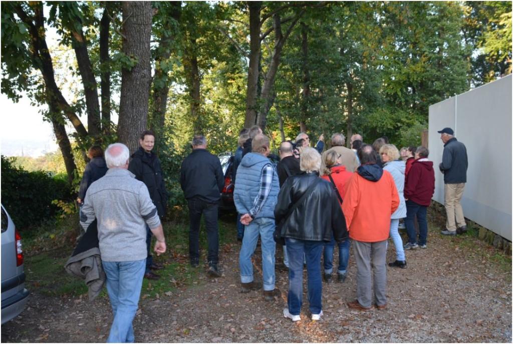 Trassenbegehung am Standort der dritten Stütze (10. Oktober, unter anderem mit Pressevertretern und dem BUND)