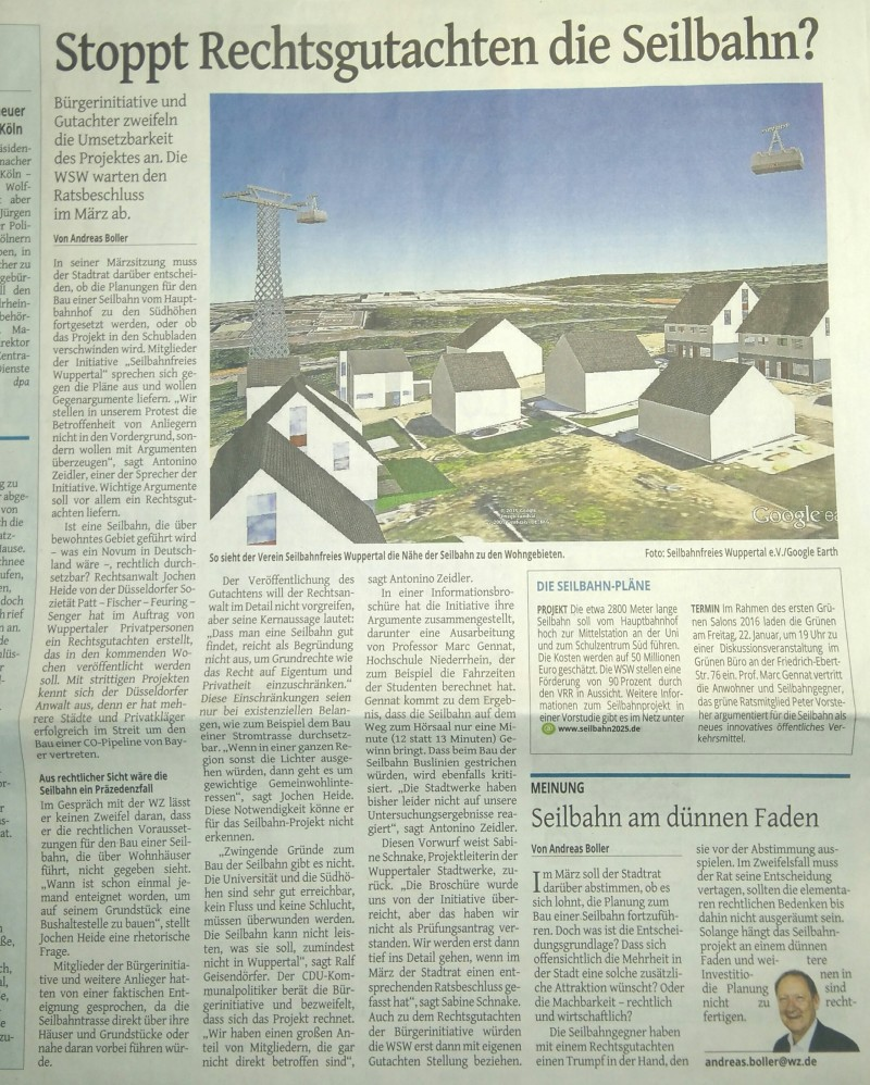 Medien | Seilbahnfreies Wuppertal e.V. | Seite 2