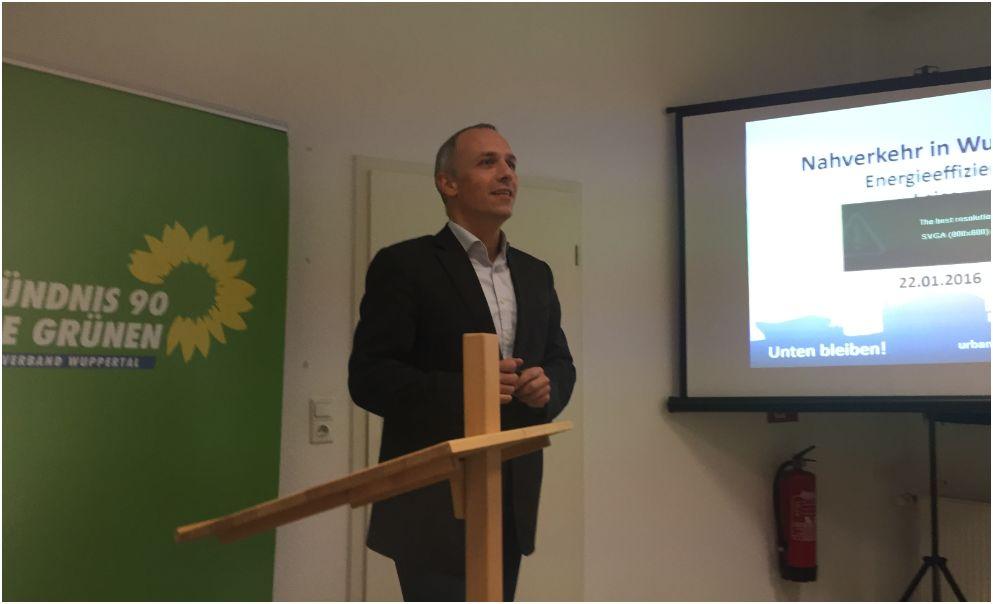 """Prof. Ing. Marc Gennat auf der Veranstaltung """"Grüner Salon"""" am 22. Januar"""
