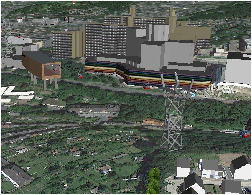 Mittelstation in südlicher Richtung: Geräuschbelastung für die Straßen im Ostersiepen, Guerickeweg bis hin zur Cläre-Blaeser-Straße einschließlich des Kleingartenvereins XXX