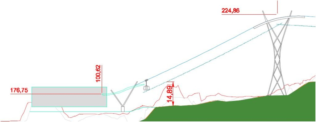 Schnitt der Talstation. Quelle: WSW mobil / Ingenieurbüro Schweiger
