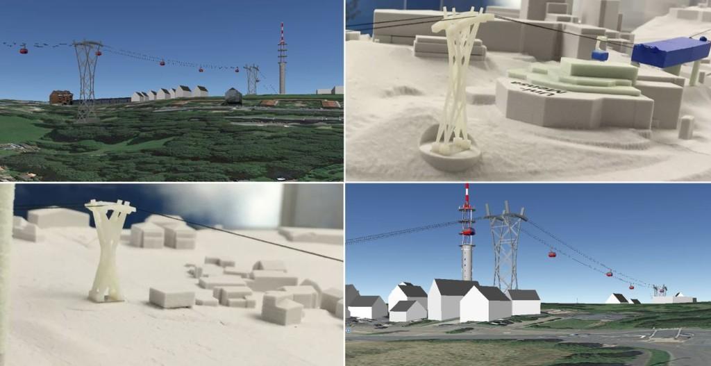 Zur Veranschaulichung einzelner Details finden Sie beispielsweise Fotos des Seilbahnmodells der WSW in den Trassendetails. Diese werden durch Bilder eines durch Seilbahnfreies Wuppertal erstellten Computermodells ergänzt.