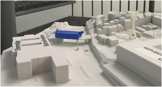 WSW-Modell der Talstation
