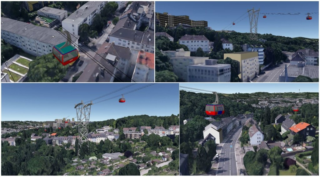Neue Informationen in unsrer Rubrik Trassendetails: Nachbarschaft der Trasse (Bilder: Modell in Google Earth)