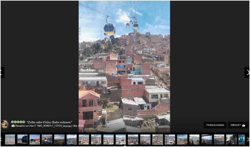 Screenshot:Tripadvisor.de, La Paz, abgerufen am 17. August 2016