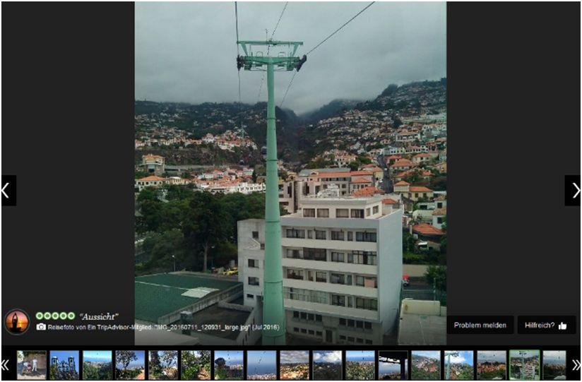 Screenshot: Tripadvisor.de, Seilbahn Funchal in Madeira, Abgerufen am 17. August 2016