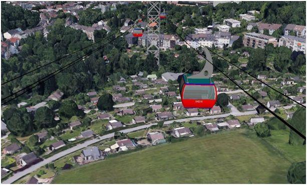 Überfahrt diverser Gartenlauben und des Ver-einsheims des Kleingartenvereins Edelweiß (Google Earth)